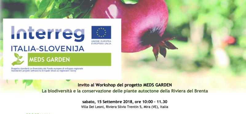 """Workshop """"La biodiversità e la conservazione delle piante autoctone della Riviera del Brenta"""""""